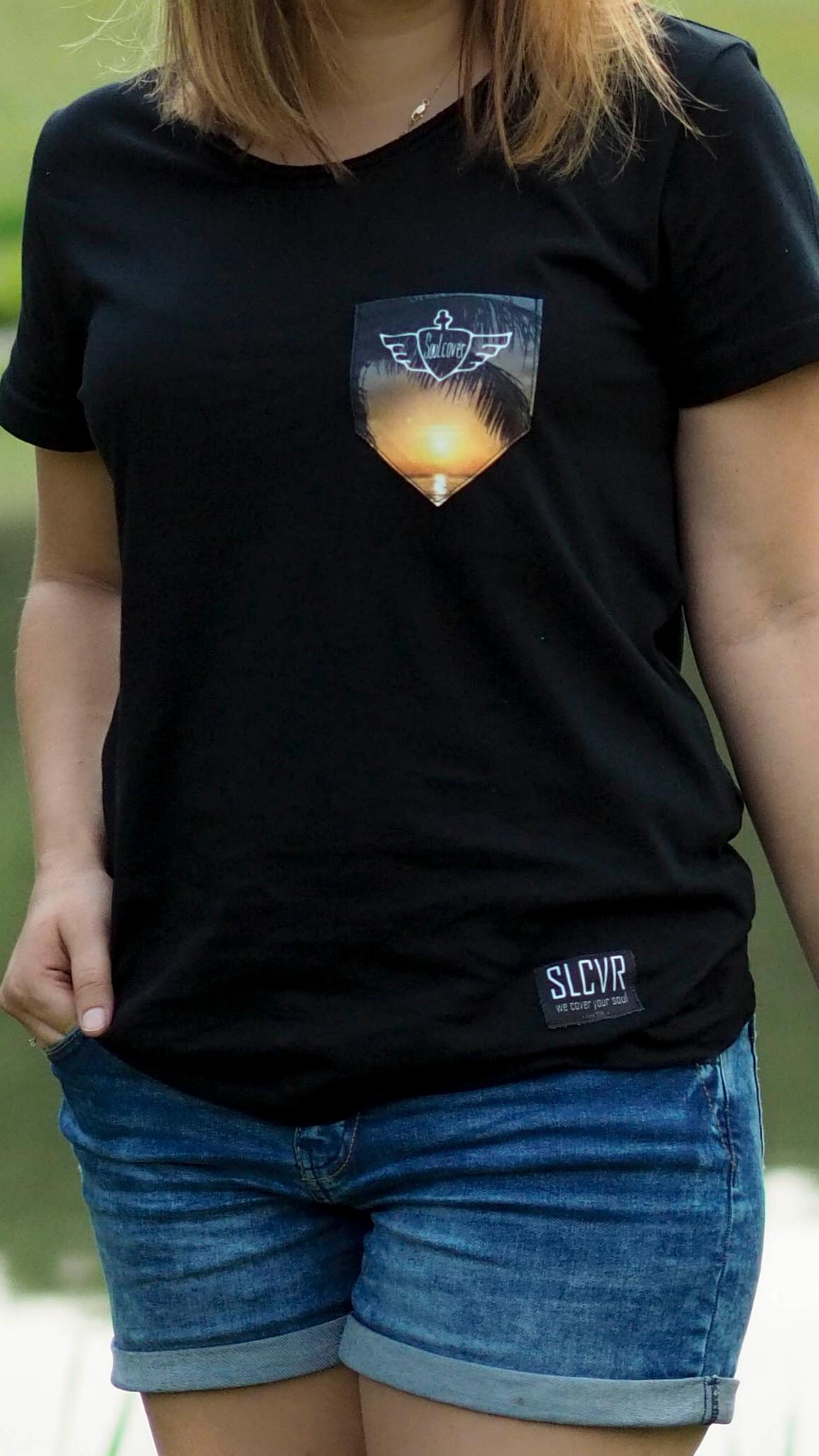Sunset Ladies Soulcover Clothing T-Shirt Shirt für Weltreise Reisejunkies Reise Travel Traveller Wanderlust Organic Eco Öko Biobaumwolle Bio-Baumwolle Fairtrade