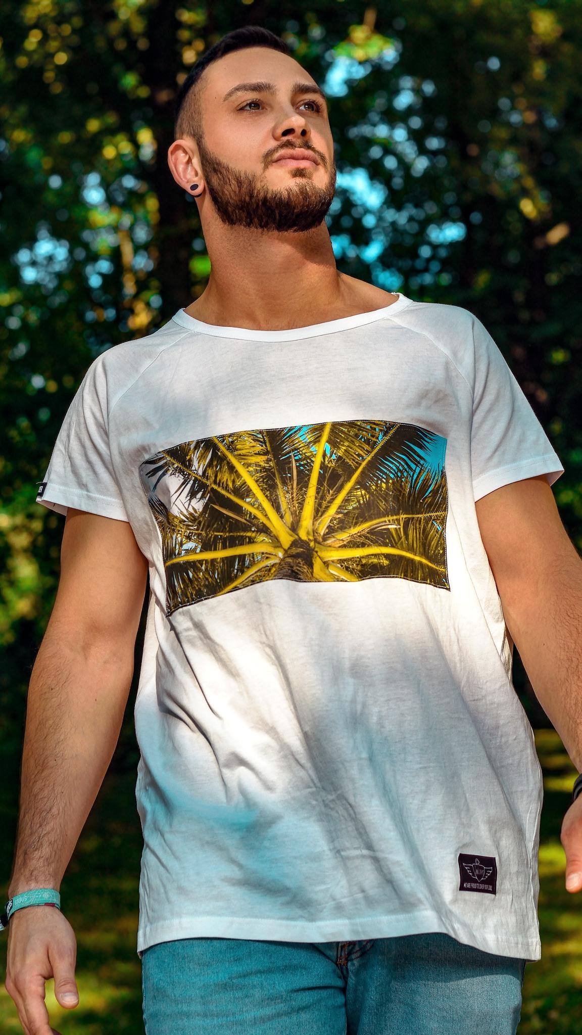 Belize, It, T-Shirt, Palmen, Motiv hochwertiger Colourprint top verarbeitet