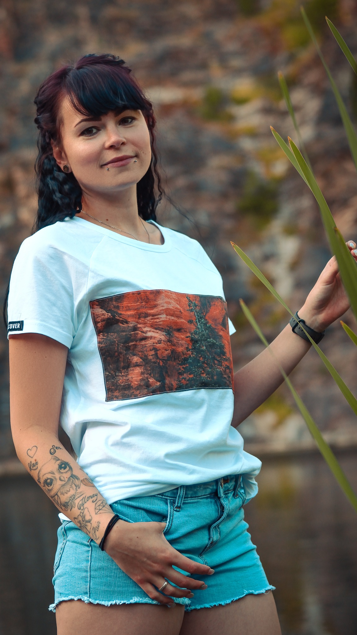 Canyon, Grand Canyon, Canyon Shirt, Canyon T-Shirt, Canyon Motiv, handvernähte Applikation, Bio-Baumwolle, Bio-Baumwolle T-Shirt, Unisex T-shirt, nachhaltiges T-Shirt, Reise T-Shirt, Weltenbummler T-Shirt, Roadtrip T-Shirt,