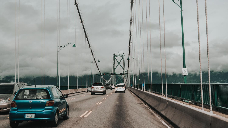 Vancouver City, Lionsgate Bridge, Stanley Park, mit dem Mietwagen durch Kanadas Westen