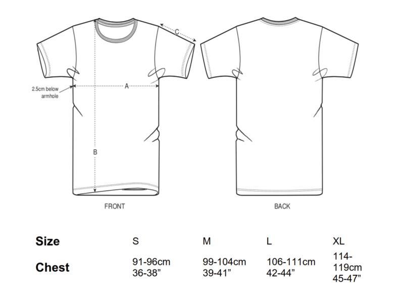 The Branch Shirt Unisex Größentabelle