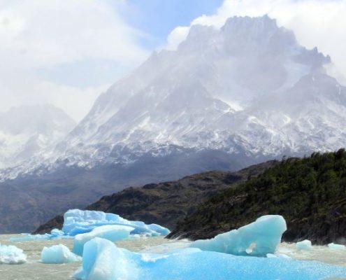 Nationalpark Torres del Paine Glacier_Grey